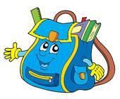 School bag - Stock Vectors Школьный рюкзак, ранец.